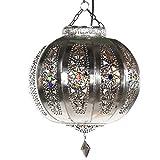 albena Marokko Galerie 13-133 Yali Lampenschirm orientalische Lampe silber 26cm