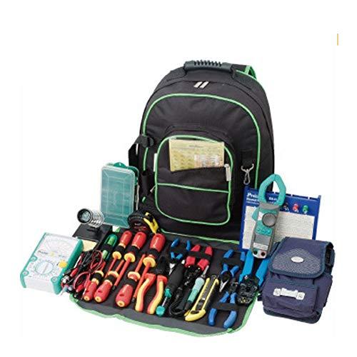 Robuster 600D Oxford Werkzeug-Rucksack, Mehrfachtaschen, Werkzeugtasche, Werkzeugtasche, perfekte Aufbewahrung und Organizer für einen Bauunternehmer, Elektriker, Klempner, HVAC HGJ1185