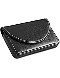 KINGFOM - Porta-Tarjetas de Visita de cuero, color negro