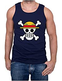 GIOVANI & RICCHI Ruffy Luffy Straw Hat Skull Logo Herren Fitness Shirt Tank Top in verschiedenen Farben