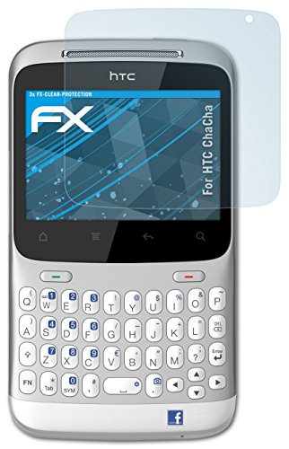 atFoliX HTC ChaCha Displayschutzfolie (3 Stück) - FX-Clear, kristallklare Premium Schutzfolie