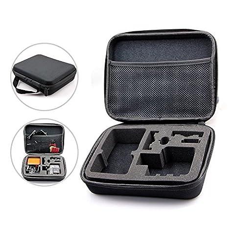 Étui de Transport Protecteur Pour GoPro, Sac Sacoche Antichoc Antipoussière pour Caméra GoPro Hero 1, 2, 3, 3+, 4 et accessoires (Noir, 24.8 x 20.2 x 6.4)