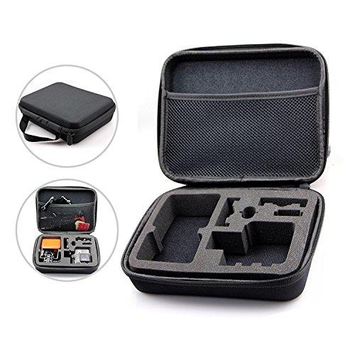 Gopro Case Tragetasche Case für Hero 5 / 4 / 3+ / 3 / 2 / 1, QUMOX SJ4000 / SJ5000 / SJ6000, Xiaomi Yi – Tasche für Kamera, Gehäuse, LCD, Akku, SD Karte und Zubehör Universal