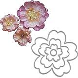 Brussels08 4 plantillas de corte de metal con diseño de flores para manualidades, tarjetas de papel, plantillas de decoración y manualidades, molde de repujado