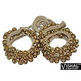 #9: VISHAL INDIA CRAFT Ghungroo 50 Bell Pair 1.6 cm, Kathak Ghungru 50 Bells - Dancing Bells Anklets