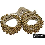 Vishal India Craft Ghungroo 50 - 50 Bells Pair, Ghungru 2 cm 50 Bells, 16 No. Ghungroo Big Bells (Total 100 Bells) Dancing Bells Anklets
