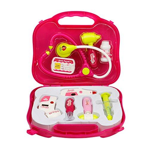Conjunto médico de juego médico Doctora Juguetes Maletin Médico juguetes Juego de Medicos con Luz y Sonido para Niños
