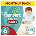 Pampers Mega Plus Baby-Dry Pants, Mega + Pack