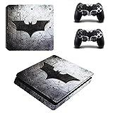 Autocollant Batman Vinyle PS4 Slim Skin Sticker pour Playstation 4 Slim Console et 2 Skins Manette pour PS4 Slim Skin, PS4 Pro Skin, Ps4 Skin Sticker A508...