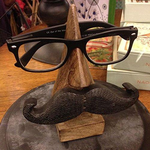 Dank Gib Geschenk für deine Geliebten Hölzerner Brillenhalter, Schnurrbart Eyewear Halter, Nase geformte spec Halter, Brown 6 Zoll eyewear Retainer.