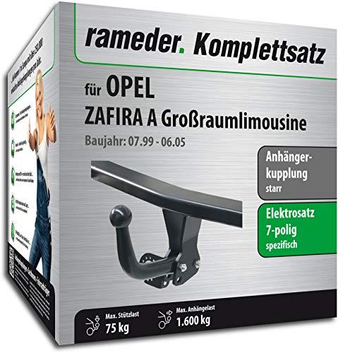 Rameder Komplettsatz, Anhängerkupplung starr + 7pol Elektrik für OPEL Zafira A Großraumlimousine (140165-04044-1)