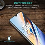 LK [3 PACK Screen Protector for OnePlus 6T,[Tempered Glass][Case Friendly] DoubleDefence Technology [Alignment Frame Easy Installation] [3D Touch] with Lifetime Replacement Warranty