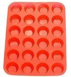 Mync-UK 3D Love Gun A-Z lettere Alfabeti rose design forma fondente silicone decorazione torte biscotti Jelly Ice dolci muffin DIY cioccolato stampi Bakeware cottura vassoio (Red muffin)