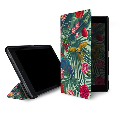 caseable Fire 7 - custodia (tablet 7 pollici, settima generazione - 2017) la custodia standing e leggera per il nuovo tablet Amazon Fire 7 con l'elegantissimo design: Tropic Fun