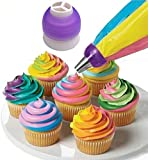 Hrph Icing Piping Bag Nozzle Converter Tri-color Cream Coupler Cake Decorating Tools For Cupcake Fondant Cookie 3 Hole
