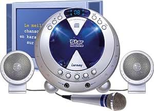 lansay karaoke cd spieler mikrofon cd auf franz sisch spielzeug spielzeug. Black Bedroom Furniture Sets. Home Design Ideas