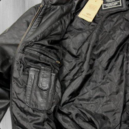 Alpha Industries Lederjacke CWU Leather black – schmal und kurz geschnitten - 6