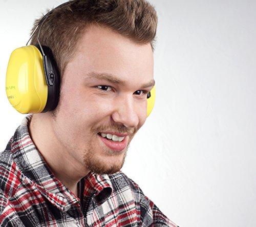Gehörschutz, Größe stufenlos verstellbar, geeignet für jede Altersklasse, extra weiche Polster, große Ohrcups, ideal für handwerkliche Arbeiten, zum Lernen bei lauter Umgebung und vielem mehr - 4