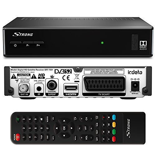 STRONG SRT 7501 HD Satelliten Receiver für ORF-Karte DVB-S2 Full HD (HDTV, HDMI, SCART, USB, Koaxialausgang) schwarz - Externe Tv-tuner Dvi