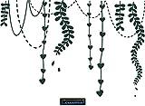 CLICKANDPRINT Aufkleber » Florale Girlande, 120x80,2cm, Metallic Tannengrün • Dekoaufkleber / Autoaufkleber / Sticker / Decal / Vinyl