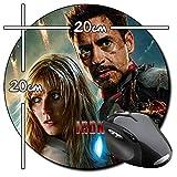 Iron Man 3 Robert Downey Jr Gwyneth Paltrow Tapis De Souris Ronde Round Mousepad PC
