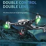 Tianya Visuo Xs816 Rc Drone Quadcopter, Doppia Fotocamera Pieghevole Wifi 4K +...