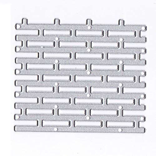 Runde Backstein-set (Nangjiang Wand Backstein Metall Stanzformen Schablone DIY Scrapbooking Album Stempel Papier Karte Präge Handwerk Decor)