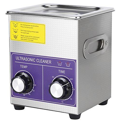 Sicherheits-lösungsmittel-reiniger (Cocoarm 1pc Edelstahl Digital Ultraschallreiniger Ultraschallreinigungsgerät Beheizte Reinigung Tank Maschine mit Heizung Digitale Timer und Korb (2L))