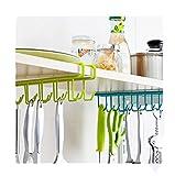 Lalang Küchenhelfer Set Küchenutensilien Hängeleiste Kochzubehör (Grün)