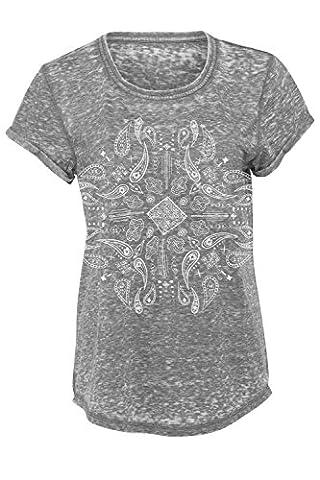 Batik T-Shirt Größe: M Farbe: Grau