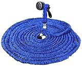 ILOVEDIY Flexischlauch Wasserschlauch für Gartenarbeit Haus Zubehör 7,6M 15,2M 22,8M 30,4M (Länge-22,8M, Blau)
