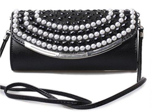 XYXM Borsa delle donne / sacchetto di sera di cristallo / sacchetto di catena / sacchetto di spalla / borsa obliqua / sacchetto di vestito , silver black