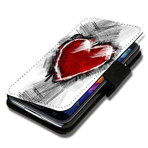 Book Style Flip Handy Tasche Case Schutz Hülle Schale Motiv Etui für Apple iPhone 5 / 5S - A40 Design9 Design 4