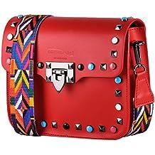 salvare 1b7d3 59a33 Amazon.it: borsa tracolla con borchie - Rosso