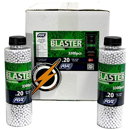 Airsoft BBS Blaster .20 Gramm und Patch von First und Only Airsoft, Airsoft Pistole Munition Box - Sehr genaue BBS in Einer erstaunlichen 12 Flasche / 36000 Schuss Bulk-Deal