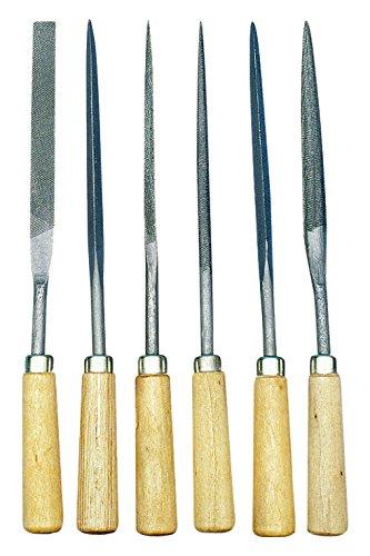 Rayher Feilen-Set/Werkzeug-Raspeln mit Holzgriff, Set 6-teilig, ideal für Specksteine und kleine Schnitzarbeiten in der praktischen, wiederverschließbaren Kunststoff-Tasche mit Druckknopf