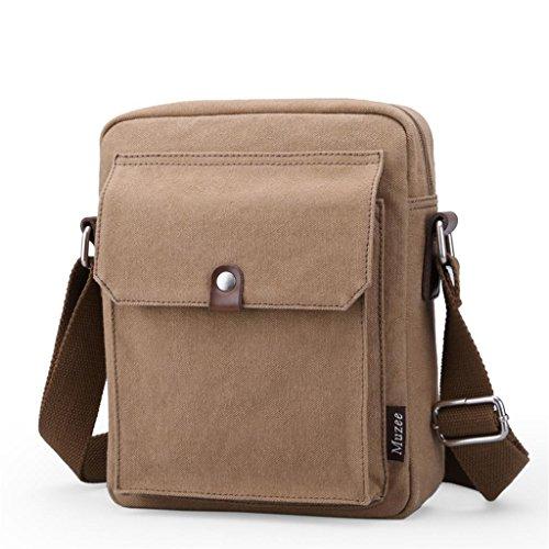 Global-Neue Männer Retro-khaki Messenger bag Mann Leinwand Umhängetasche Freizeittasche Mann Tasche Europa Khaki