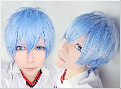 LanTing Cosplay Perücke Kuroko no Basuke Kuroko Tetsuya Blue Perücke Corta Cosplay Party Fashion Anime Human Costume Full wigs Synthetic Haar Heat Resistant (Cosplay Kuroko Tetsuya Kostüm)
