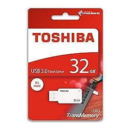 Toshiba 32GB TransMemory U303 USB 3.0 Flash Drive White