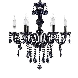 SAILUN® Soffitto di cristallo lampada a sospensione lampadario classico nero lampada a sospensione in ottone antico lampadari in cristallo 5/6/810+ 5luci E14