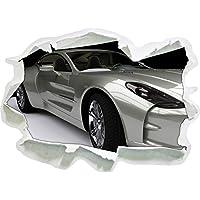 carta Sport macchina d'argento 3D della parete di formato: 92x67 cm decorazione della parete 3D Wall Stickers parete decalcomanie