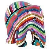 Elephant Parade Mr. Stripe Figura de elefante pintada a mano, edición limitada, 10 cm