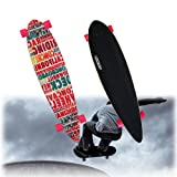 VINGO® 44'' Komplett Top mount ABEC 7 Skateboard Streetsurfer Aluminium cruising Trucks Cruiserboard