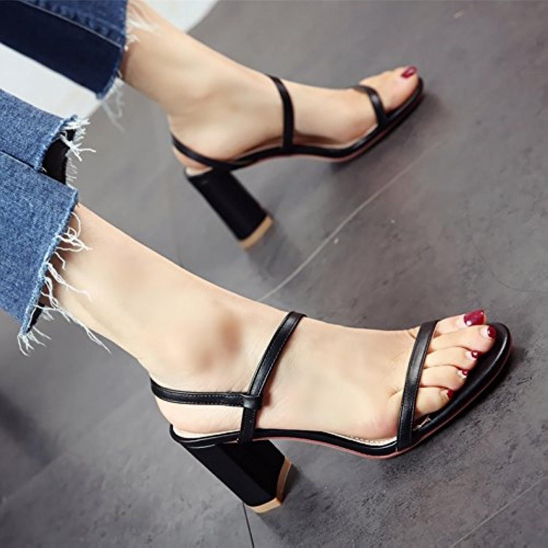 YMFIE Estate nuovo stile semplice moda toe toe sandali lady del comfort di tacco e tacco alto scarpe,37 UE,un | all'ingrosso  | Uomo/Donna Scarpa