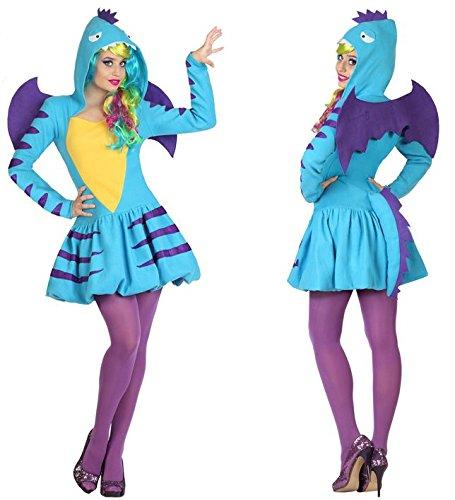 Generique - Feuriges Drachenkostüm für Damen - Feurige Kostüm