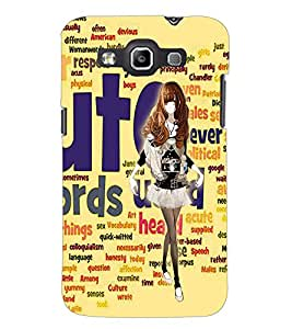 PrintDhaba Catwalk D-1029 Back Case Cover for SAMSUNG GALAXY WIN i8552 (Multi-Coloured)