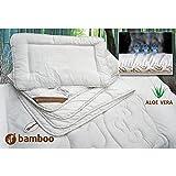 Couette et oreiller bébé en Bambou enduite Aloe Vera - hypoallergénique - thermorégulatrice - anti-acariens 100x135