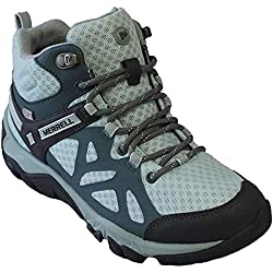 Merrell Womens Outright Edge Mid Sedona/Glacier Sneakers Blue 5 M US