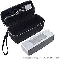 Eco-Fused Sacoche étui sac housse pour Bose Soundlink Mini 1 ou 2 - idéal pour le rangement et transport de votre - Rembourrage antichoc sur tous les côtés pour votre enceinte et le docker - Poche en maille - dragonne (Noir, Housse sacoche étui sac housse Soundlink Mini 1ou 2)