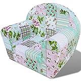 Festnight Kindersessel Sessel Babysessel Kindermöbel Kindersofa 44 x 53 x 36 cm Blumenmuster für Spielzimmer oder Schlafzimmer